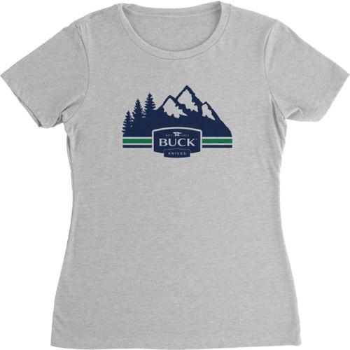Womens Mountains T-Shirt L