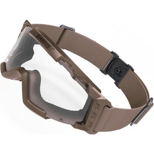 Laylax SWANS Tactical Goggles (Color: Tan / Clean Lens)