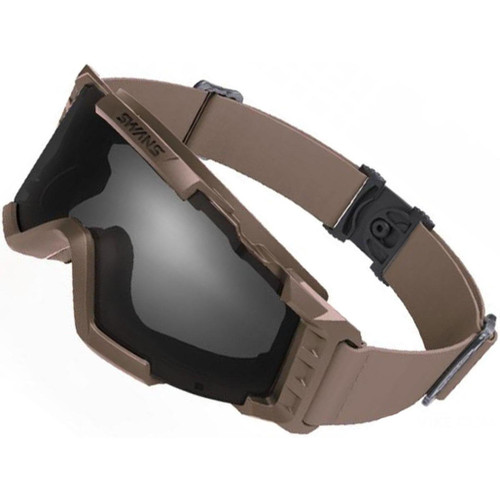 Laylax SWANS Tactical Goggles (Color: Tan / Smoke Lens)