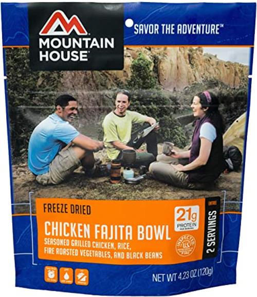 Mountain House Freeze Dried Camping Food - Chicken Fajita Bowl