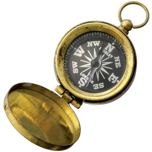 Pocket Compass Brass