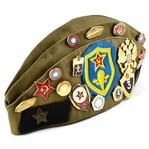 Russian Military Issue Garrison Cap With Pins