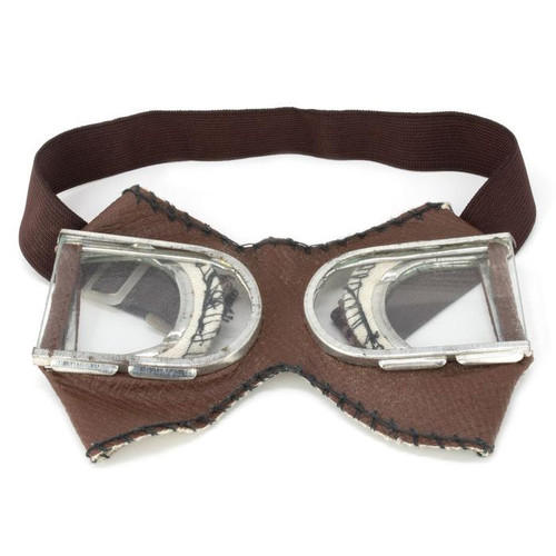 Russian Military Issue Split Glass Motorcycle Goggles - Clear