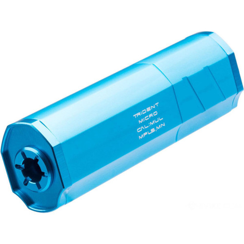 Helix Airsoft Trident Micro Mock Suppressor / Barrel Extension (Color: Aquamarine / 14mm Negative)