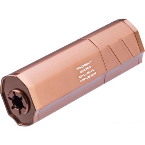 Helix Airsoft Trident Micro Mock Suppressor / Barrel Extension (Color: FDE / 14mm Negative)
