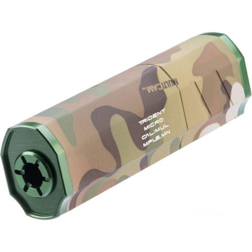 Helix Airsoft Trident Micro Mock Suppressor / Barrel Extension (Color: Multicam / 14mm Negative)