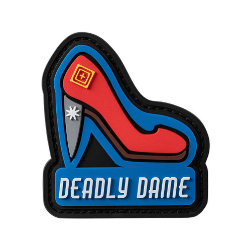 "5.11 Tactical ""Deadly Dame"" PVC Morale Patch"