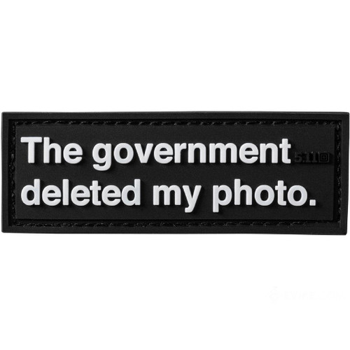 """5.11 Tactical """"Deleted Photo"""" PVC Morale Patch"""