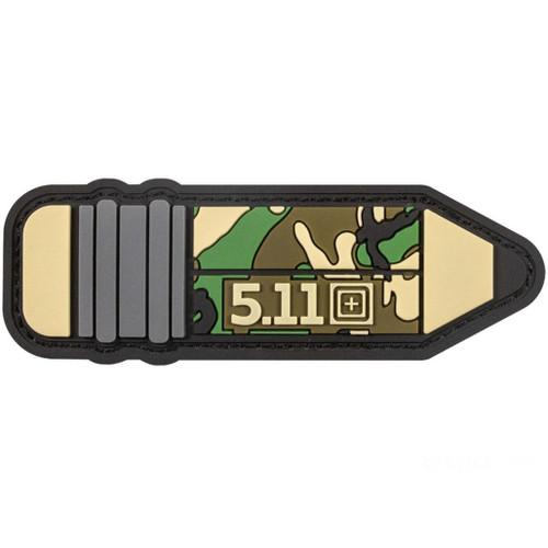 """5.11 Tactical """"Camo Pencil"""" PVC Morale Patch"""