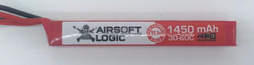 Airsoft Logic 11.1V Li-po Battery 1450maH (Stick) High Discharge DEAN CONNECTOR