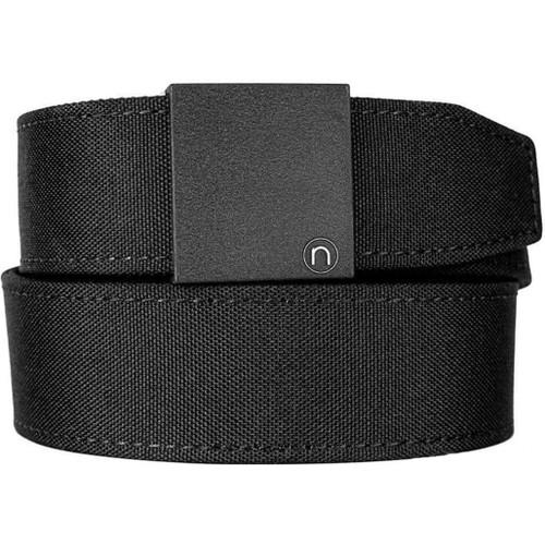 "NexBelt PreciseFit ""Supreme Appendix"" Micro Adjustment Ratcheting Nylon Gun Belt (Color: Black w/ Powder Coat Granite Black Buckle)"