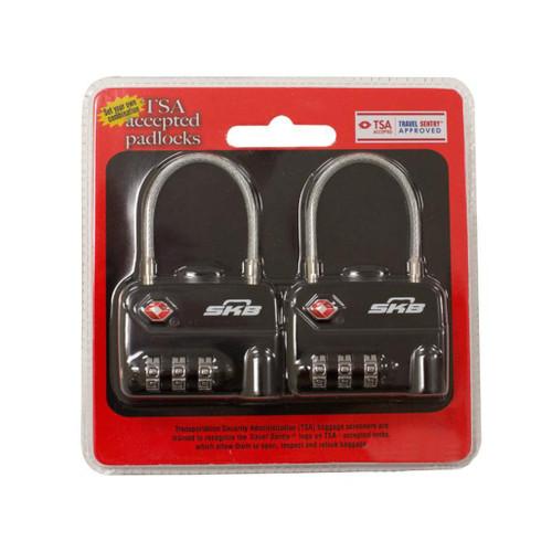 SKB TSA Combination Cable Padlocks (Set of 2)