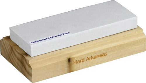Hard Arkansas Stone on Wood