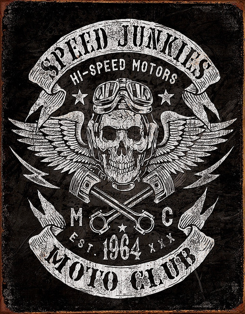 Speed Junkies Moto Club Sign