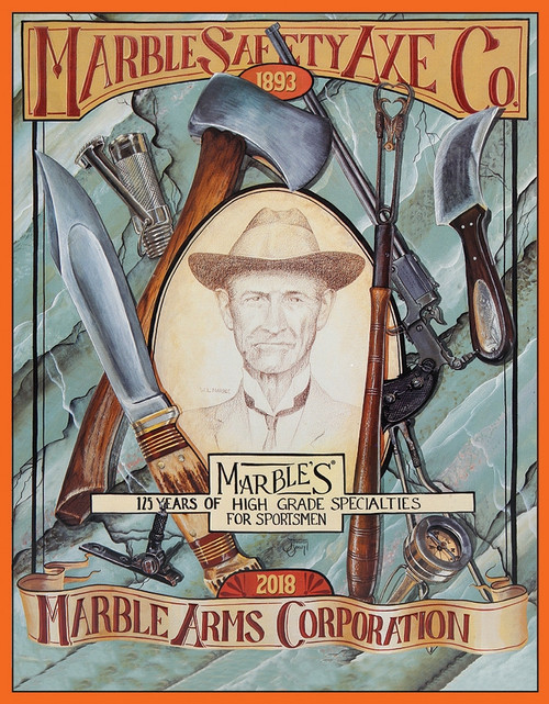 Marbles Safety Axe Tin Sign