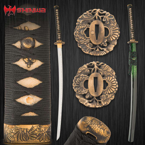 Shinwa Emerald Dynasty Katana With Scabbard