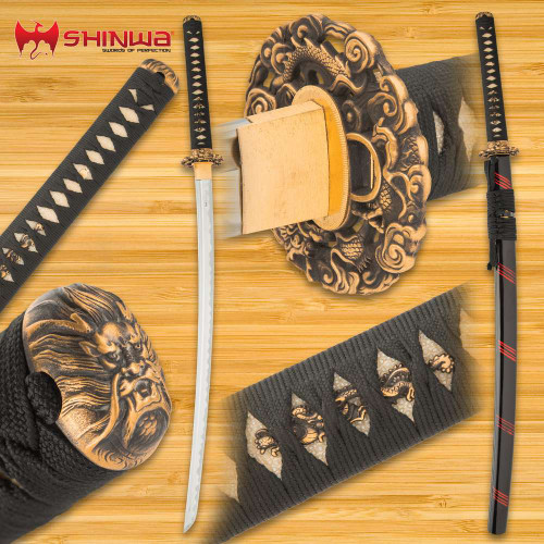 Shinwa Dragon Lair Katana With Scabbard