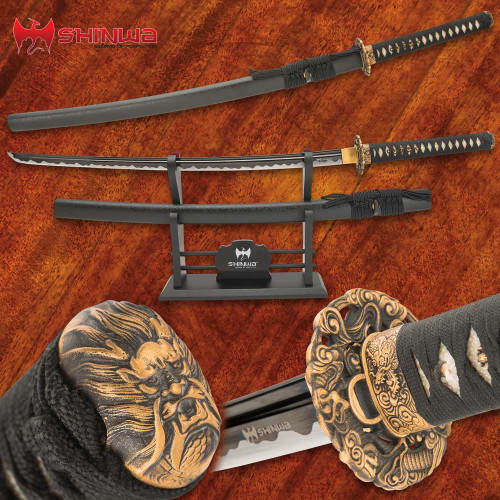 Shinwa Maelstrom Dragon Katana With Scabbard
