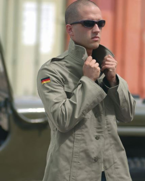 German Orig OD Old Style Moleskin Field Jacket New