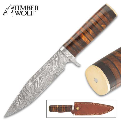 Timber Wolf Numidia Hunting Knife And Sheath