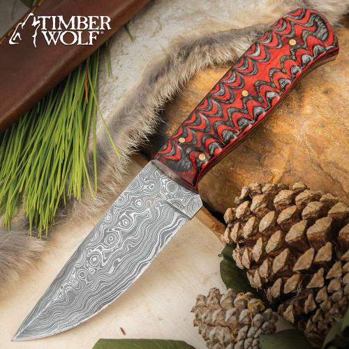Timber Wolf Ripple Creek Hunting Knife With Sheath