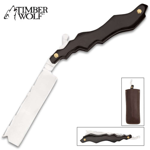 Timber Wolf Black Lightning Pocket Razor Knife With Pouch
