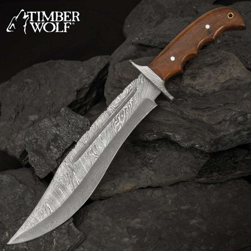 Timber Wolf Colorado Peak Fixed Blade Knife And Leather Sheath
