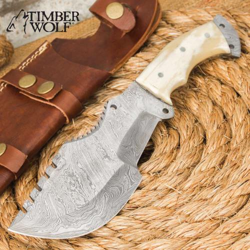 Timber Wolf Predator Knife And Sheath