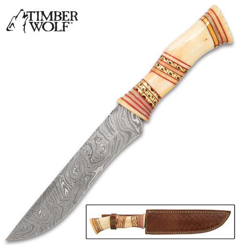 Timber Wolf Horus Knife And Sheath