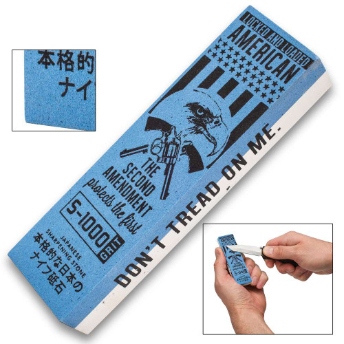 """Don't Tread On Me"" Japanese Water Stone / Sharpening Stone"