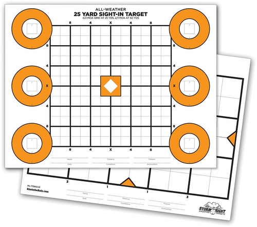 Zeroing Targets 25 pack