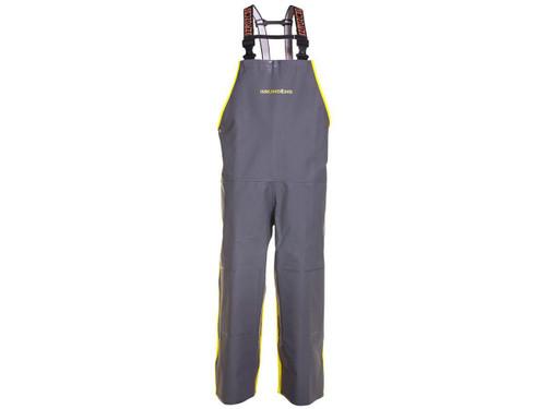 """Grundens """"Hauler"""" Bib Fishing Trousers (Color: Hi-Vis Yellow-Grey )"""