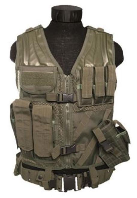 Mil-Tec Usmc Od Combat Vest W/Belt