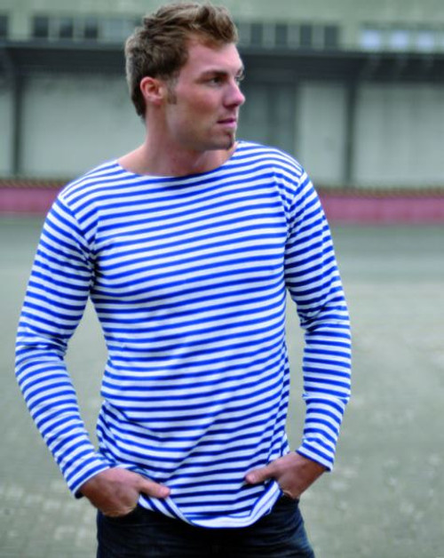 MIL-TEC Blue White Striped Summer Sweater