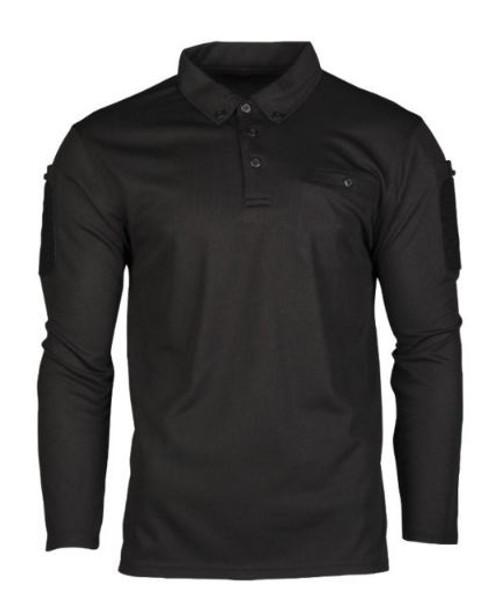 Mil-Tec Black Quick-Dry LG/SL Tactical Shirt