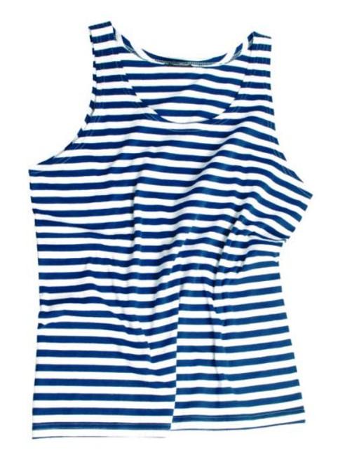 Mil-Tec Blue White Striped Sailor Tank Top