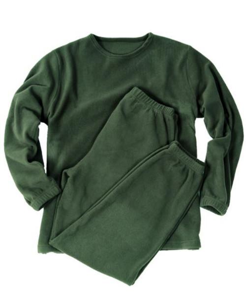 Mil-Tec OD Round Neck Fleece Underwear Set