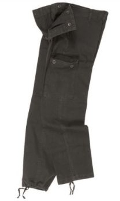 Mil-Tec Black Pre Washed Moleskin Pants