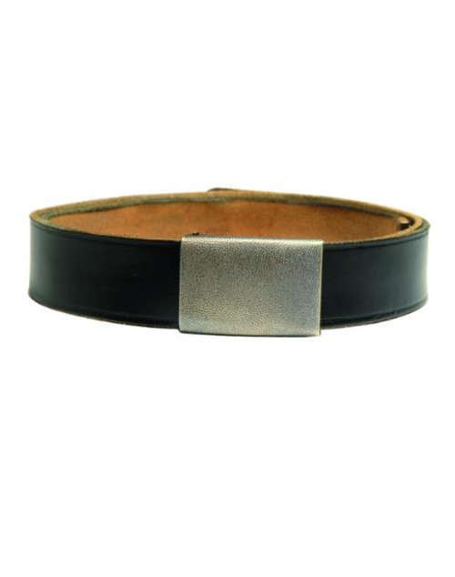 German Armed Forces Black Leather Trouser Belt