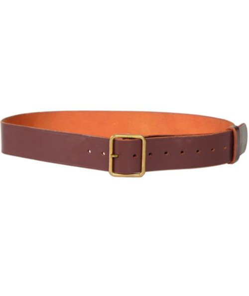 Swiss Armed Forces Brown Leather Trouser Belt