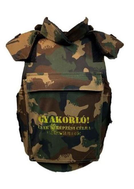 Hungarian Armed Forces W/L Camo Flak Vest W/2-Ceramic Plates