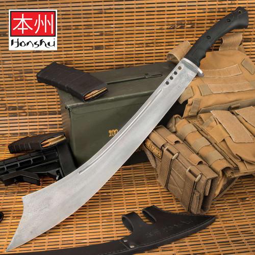 Honshu Damascus War Sword With Sheath