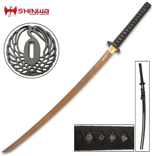 Shinwa HellFyre Damascus Royal Warrior Katana
