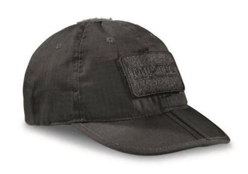 Mil-Tec Black Foldable Baseball Cap