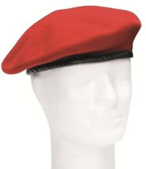 German Orig Red Wool Beret