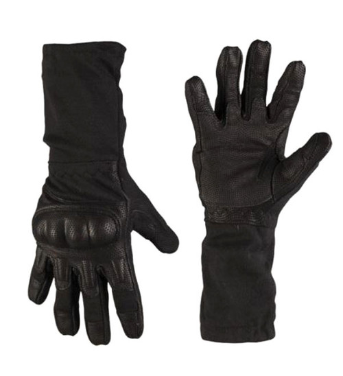 Mil-Tec Black Long FR Action Gloves
