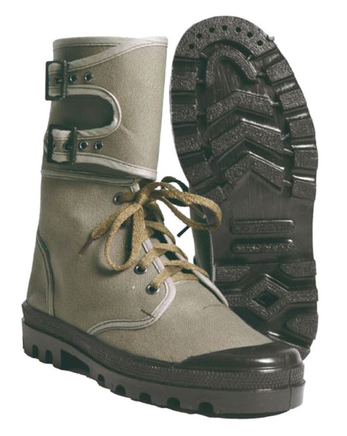 Mil-Tec Od Canvas Combat Boots W Buckle