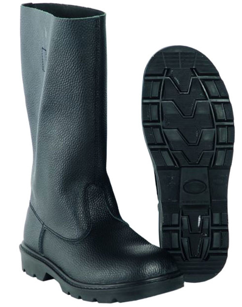 Mil-Tec Black Leather Jack Boots