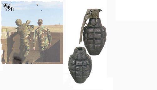 Dummy Hand Grenade -Pineapple w Fuse Kit