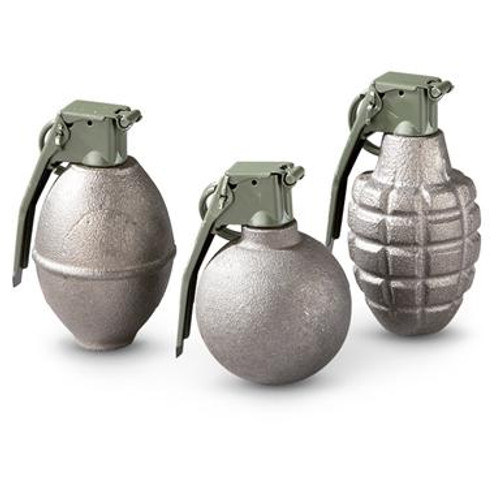 3-Pk. of Dummy Military Style Grenades w/Fuse Kit